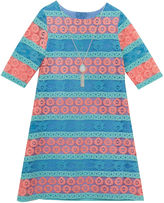 Rare Editions 3/4 Sleeve Skater Dress - Preschool Girls