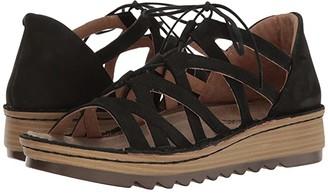 Naot Footwear Yarrow (Black Velvet Nubuck) Women's Shoes