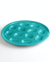 Fiesta Turquoise Egg Plate
