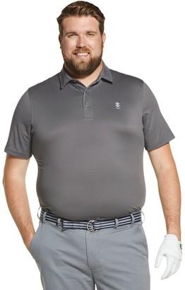 Izod Big & Tall Sportswear Fairway Gingham Performance Golf Polo