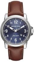 MICHAEL Michael Kors Women's Michael Micheal Kors 'Paxton' Leather Strap Watch, 43Mm