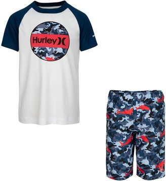 Hurley Boys 4-7 Dri-FIT UPF 50+ Shark Top & Board Shorts Set