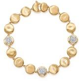 Marco Bicego 18K Yellow Gold Diamond Pave Jaipur Link Small Beaded Bracelet