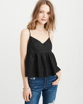 Abercrombie & Fitch Embroidered Babydoll Cami