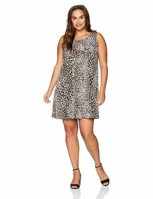 Karen Kane Women's Plus Size Leopard Print Chloe Dress 1X