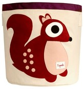 3 Sprouts Canvas Extra Large Round Storage Bin - Squirrel
