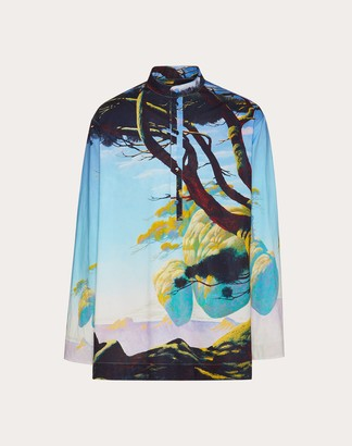 Valentino Floating Island Long-sleeved Shirt Man Multicolored 100% Cotone L
