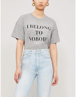 Nobody Denim Belong To Nobody cotton-jersey T-shirt