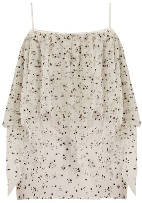 Racil Lilly Off The Shoulder Ruffled Tulle Top - Womens - White Multi