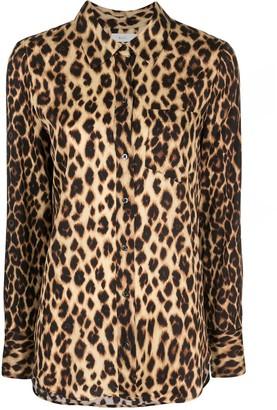 A.L.C. Emerson leopard-print shirt