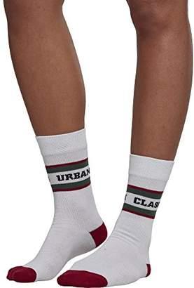 Urban Classics Men's Logo Stripe Sport 2-Pack Socks,2.5/5