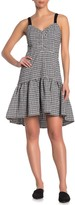 Parker Gingham Ruffle High/Low Hem Dress