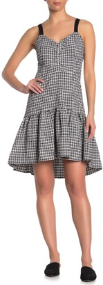 Parker Gingham Ruffle High/Low Hem Dress