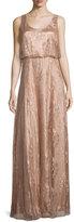 Donna Morgan Natalya Sleeveless Satin Lace Gown