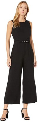 Bardot Belted Jumpsuit (Black) Women's Jumpsuit & Rompers One Piece