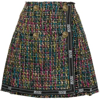 Versace Jeans Couture Tweed A-Line Skirt