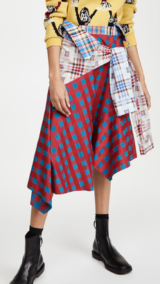 Marques Almeida Patchwork Sleeve Skirt
