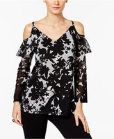 INC International Concepts Ruffled Cold-Shoulder Peasant Top, Only at Macy's