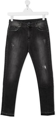 Gaelle Paris Kids TEEN mid-rise skinny jeans