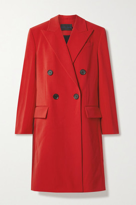 Proenza Schouler Double-breasted Grain De Poudre Coat - Red