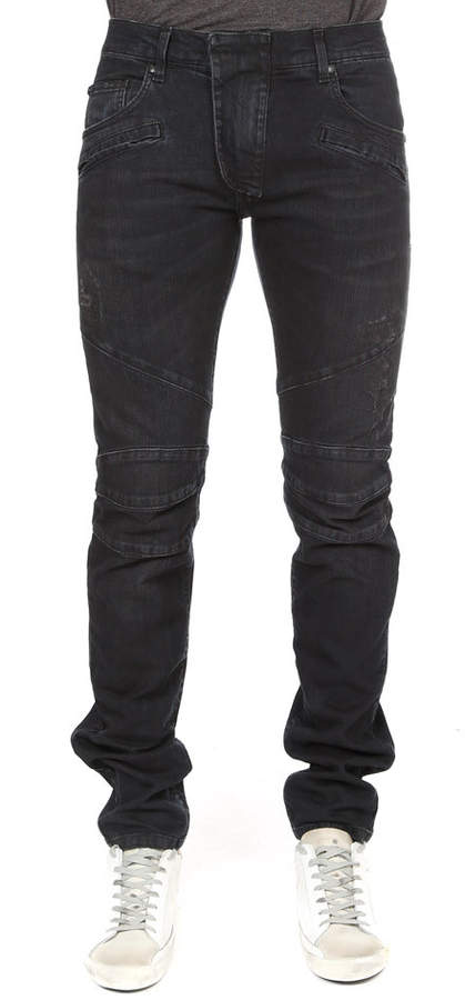 bef93fab Pierre Balmain Men's Distressed Jeans - ShopStyle