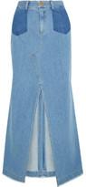 Sea Denim Maxi Skirt