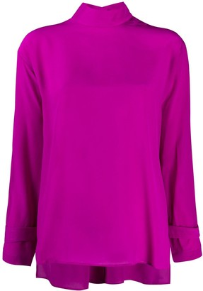 Jejia Mock Neck Blouse
