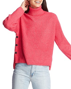 1 STATE 1.State 1.state Waffle-Knit Turtleneck Sweater