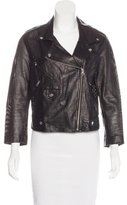 Rebecca Minkoff Leather Perforated Jacket
