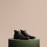 Burberry Washed-leather Chelsea Boots