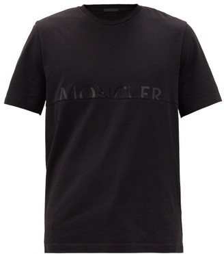 Moncler Split-logo Cotton-jersey T-shirt - Black