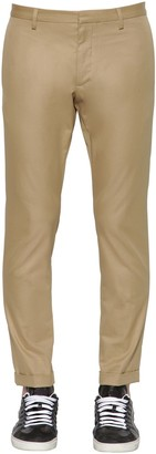 DSQUARED2 TIDY FIT COTTON TWILL CHINO PANTS