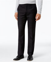Alfani Collection Men's Classic-Fit Textured Crosshatch Flat-Front Pants, Only at Macy's