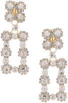 Raisa&Vanessa RAISA&VANESSA Rectangular Earrings in Gold Crystal & Gold | FWRD