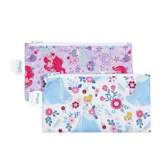 Bumkins Disney Princesses Reusable Snack Bag 2-Pack Set