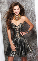 Tarik Ediz Sweetheart Neck A-Line Short Dress 90342