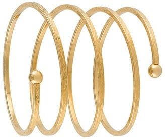 Susan Caplan Vintage 1990s Spiral Arm Cuff