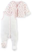 Petit Bateau Baby girls pajamas and cardigan set