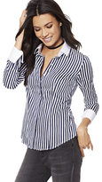 New York & Co. 7th Avenue - Madison Stretch Shirt - French-Cuff - Stripe