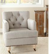 Safavieh Colin Stone Linen Arm Chair