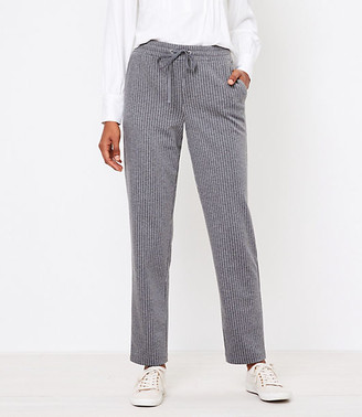 LOFT Petite Tapered Knit Pull On Pants in Stripe