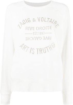 Zadig & Voltaire Upper Blason embroidered logo cotton sweatshirt