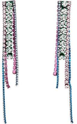 Area Women's Crystal Chandelier Earrings - Silver
