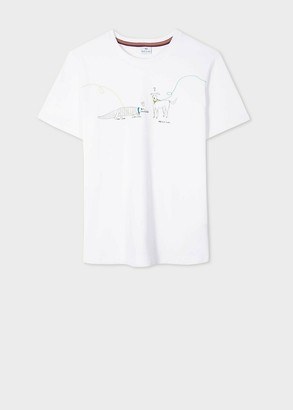 Paul Smith White Organic Cotton Dog Walker T Shirt - S | white - White/White