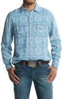 Ryan Michael Aztec Laser Print Shirt - TENCEL®, Snap Front, Long Sleeve (For Men)