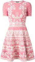 Alexander McQueen flared dress - women - Polyamide/Polyester/Spandex/Elastane/Viscose - XXS