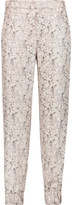 Rag & Bone Alfred printed silk-twill tapered pants