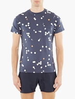 Saturdays Surf NYC Navy Spot-Print Randall T-Shirt