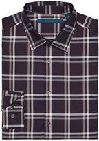 Perry Ellis Windowpane Pattern Twill Shirt