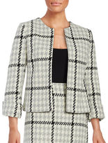 Helene Berman Kelly Houndstooth Plaid Jacket